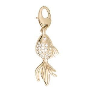 NEW Kate Spade 12k Gold Plated Goldfish Charm